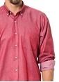 Dewberry Uzun Kollu Slim Fit Gömlek Bordo